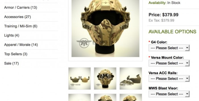 Army Combat Helmet by MTek Weapon Systems