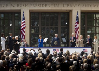 George W. Bush President Center Ceremony