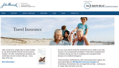Travel Insurance at Johnhancocktravel.com