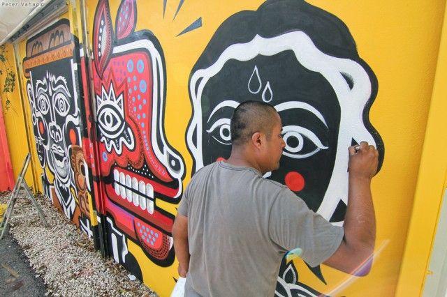 арт стрит граффити на стенах города