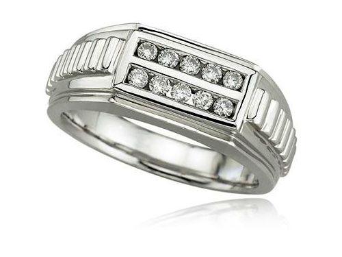 Modern Mens Diamond Ring