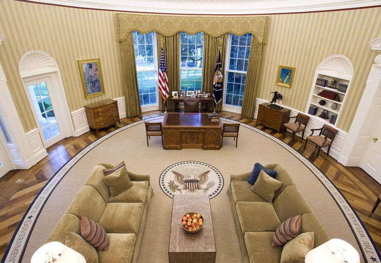 White House Oval Office Interior
